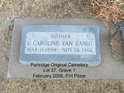 Elizabeth Caroline <I>Cain</I> Van Zandt