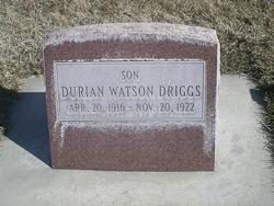 Durian Watson Driggs