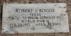 Sgt Robert I Boggs