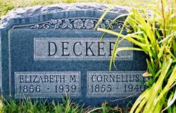 Elizabeth <I>Morris</I> Decker