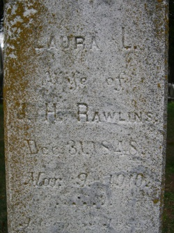 Laura Lee <I>Chiswell</I> Rawlins