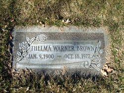Thelma <I>Warner</I> Brown