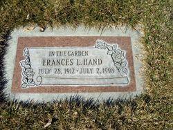 Frances Laura <I>Davis</I> Hand