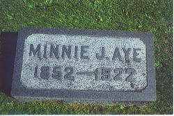 "Arminda Jane ""Minnie"" <I>DeVore</I> Aye"
