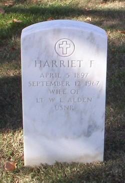Harriet F Alden