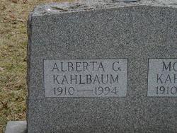 Alberta G <I>Barnum</I> Kahlbaum