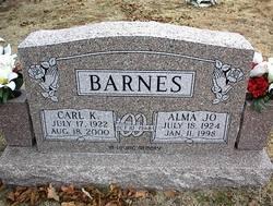 Alma Jo <I>Wickman</I> Barnes
