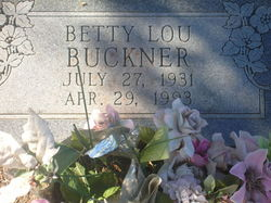 Betty Louise <I>Allen</I> Buckner