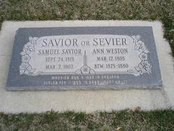 Ann <I>Weston</I> Savior