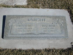 Rose Elizabeth <I>Webb</I> Knight