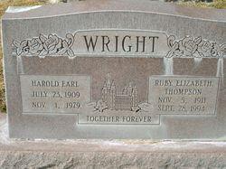 Ruby Elizabeth <I>Thompson</I> Wright