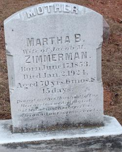 Martha B <I>Frankfort</I> Zimmerman