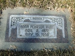 Anna Charlotta <I>Pehrson</I> Hunt
