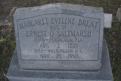 Margaret Eveline <I>Brent</I> Saltmarsh