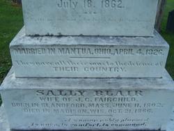 Sally <I>Blair</I> Fairchild