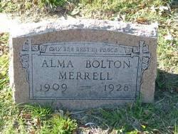 Alma <I>Bolton</I> Merrell
