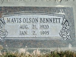 Mavis <I>Olson</I> Bennett