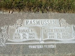 Ruth Iona <I>Thompson</I> Rasmussen