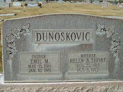 Helen B. <I>Short</I> Dunoskovic
