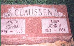 Sophia <I>Tibken</I> Claussen