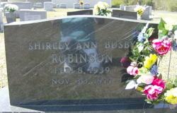 Shirley Ann <I>Busby</I> Robinson