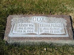Leona <I>Forgie</I> Cox