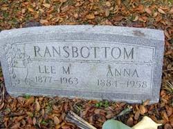 Anna <I>Zumbaugh</I> Ransbottom