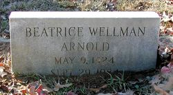 Beatrice <I>Wellman</I> Arnold