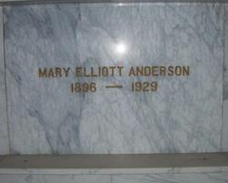 Mary Eunice <I>Elliott</I> Anderson