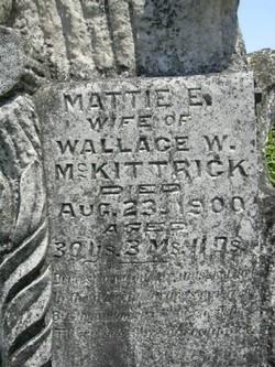 "Martha Ellis ""Mattie"" <I>Marcum</I> McKittrick"