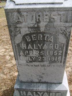 "Roberta A ""Berta"" <I>Hall</I> Halyard"