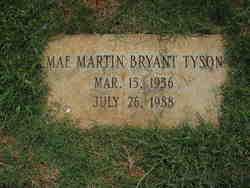 Mae Martin <I>Bryant</I> Tyson