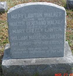 Mary <I>Lawton</I> Walker