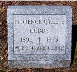 """Florence Marie """"Flossy"""" <I>O'keefe</I> Cuddy"""