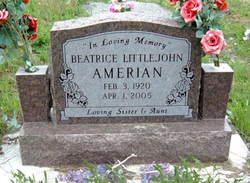 Beatrice <I>Littlejohn</I> Amerian