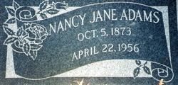 Nancy Jane <I>Wilson</I> Adams