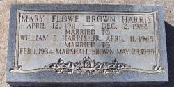 Mary <I>Flowe</I>  Brown Harris