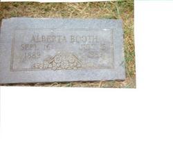 Alberta Sarah <I>Marler</I> Booth