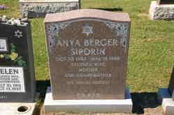 Anya <I>Berger</I> Siporin