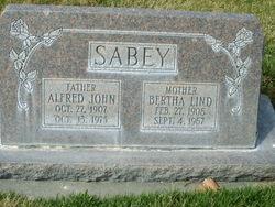 Bertha <I>Lind</I> Sabey
