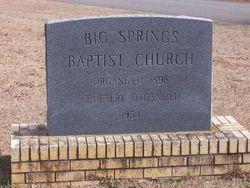 Big Springs Baptist Church Cemetery