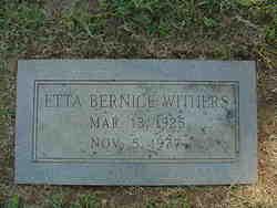 Etta Bernice <I>Gordon</I> Withers