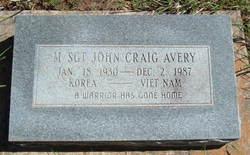 Sgt John Craig Avery