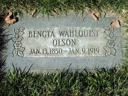 Bengta <I>Wahlquist</I> Olson