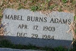 Mabel R. <I>Burns</I> Adams