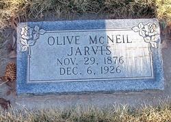 Olive <I>McNeil</I> Jarvis
