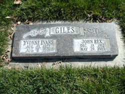 Yvonne <I>Evans</I> Giles
