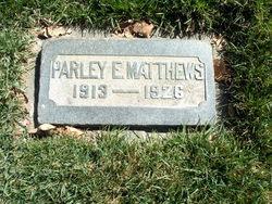 Parley Elbert Matthews