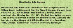 Marion Julia Hannan