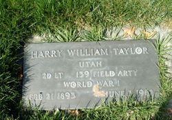 Harry William Taylor